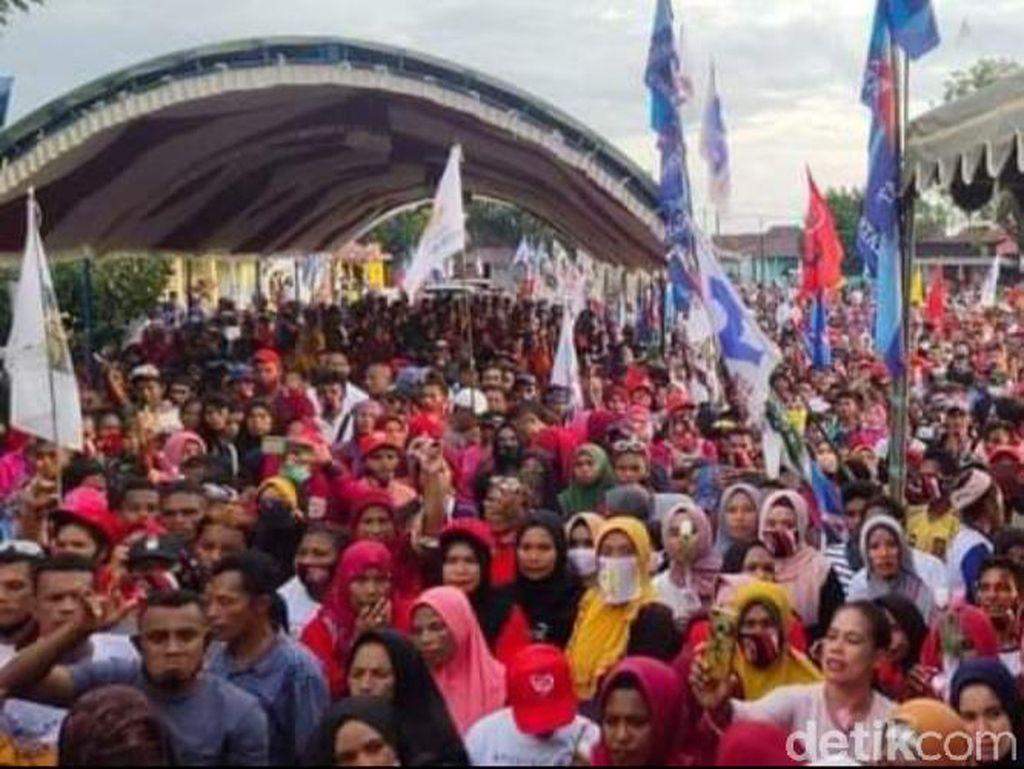 Kampanye Paslon SMS-GES di Buru Selatan Dipenuhi Massa, Tanpa Jaga Jarak