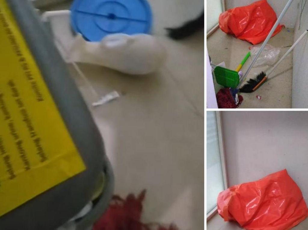 Hiii... Kantong Jenazah-Pispot Bekas Berserakan di Ruang Isolasi RS Sukabumi