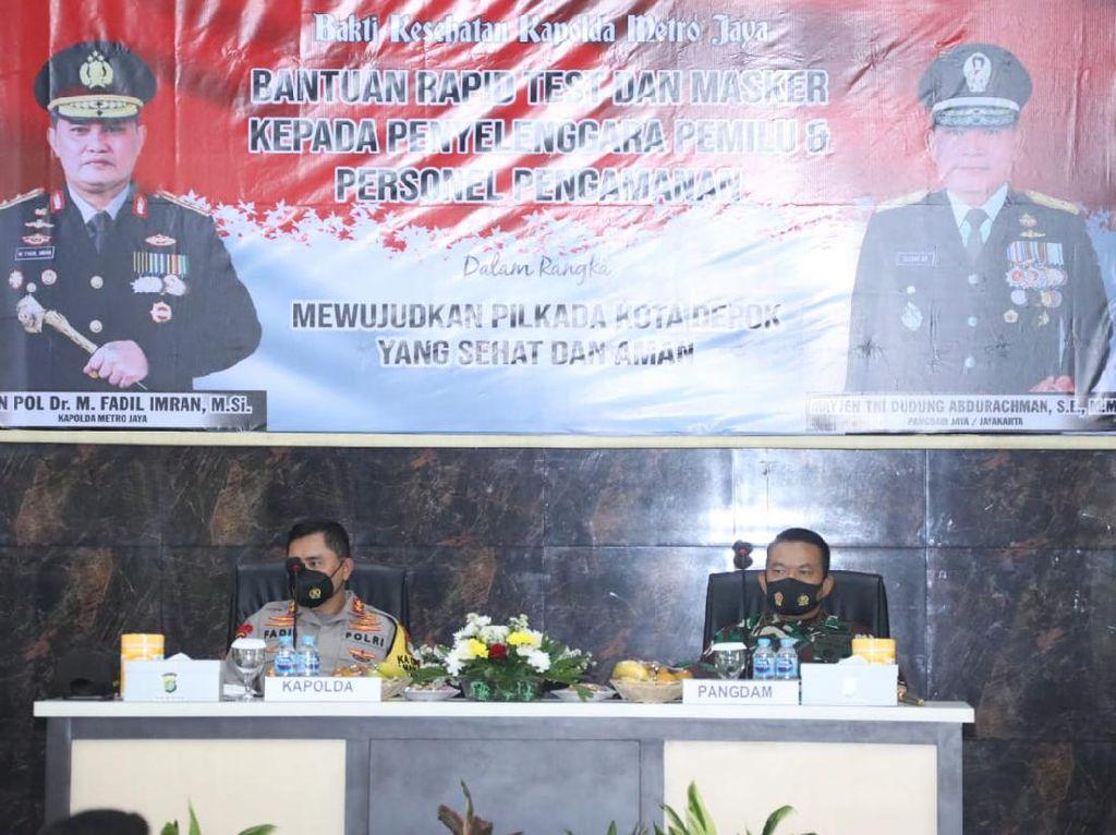 Cek Persiapan Pilkada Depok, Pangdam Jaya Akan Turunkan 200 Personel