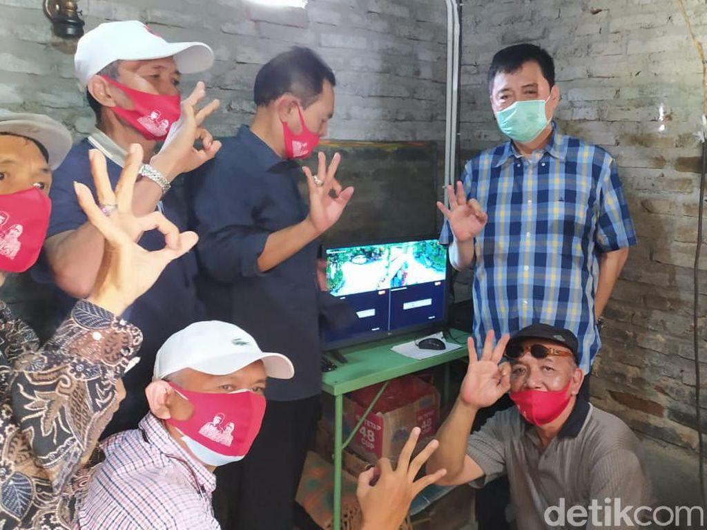 Cabup Ini Launching Kampung Waspada Pondok Jati di Akhir Masa Kampanye