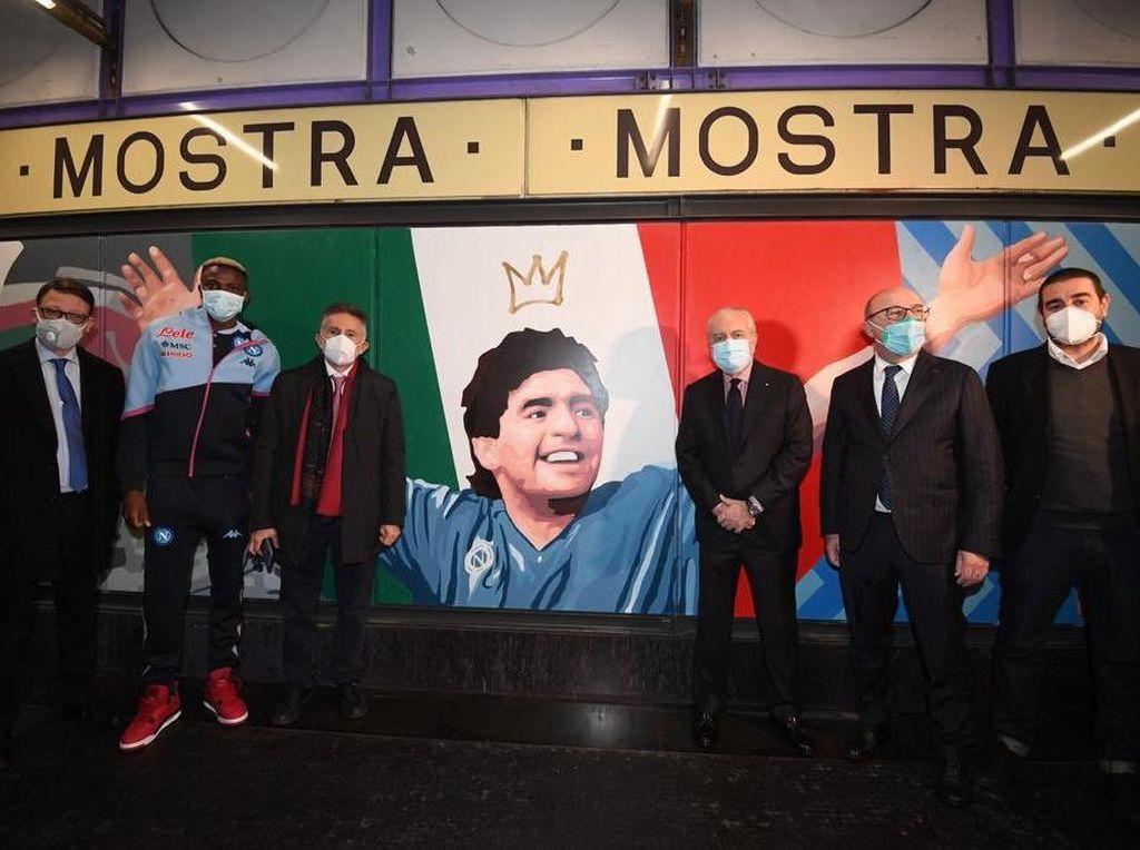 Diego Maradona Diabadikan Jadi Nama Stasiun di Naples