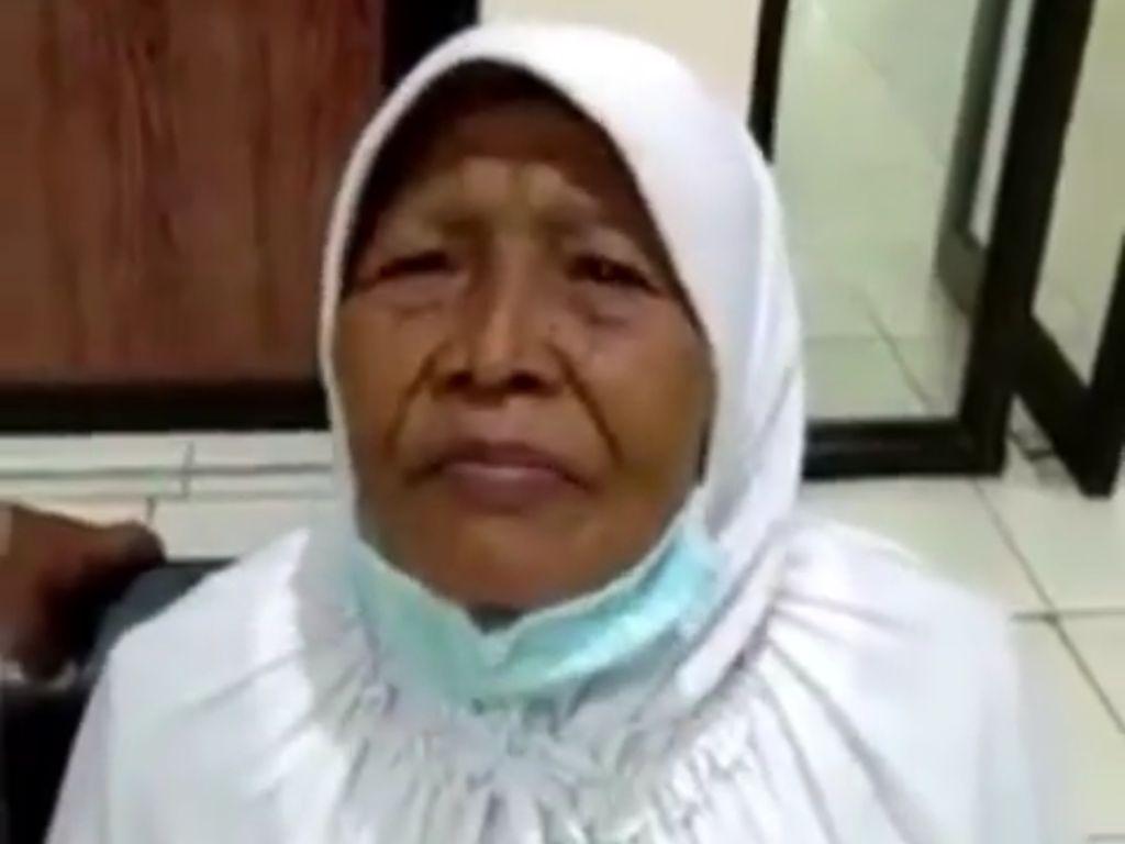 Nenek yang Viral Ditinggal di Terminal Diantar Polisi ke Yogyakarta