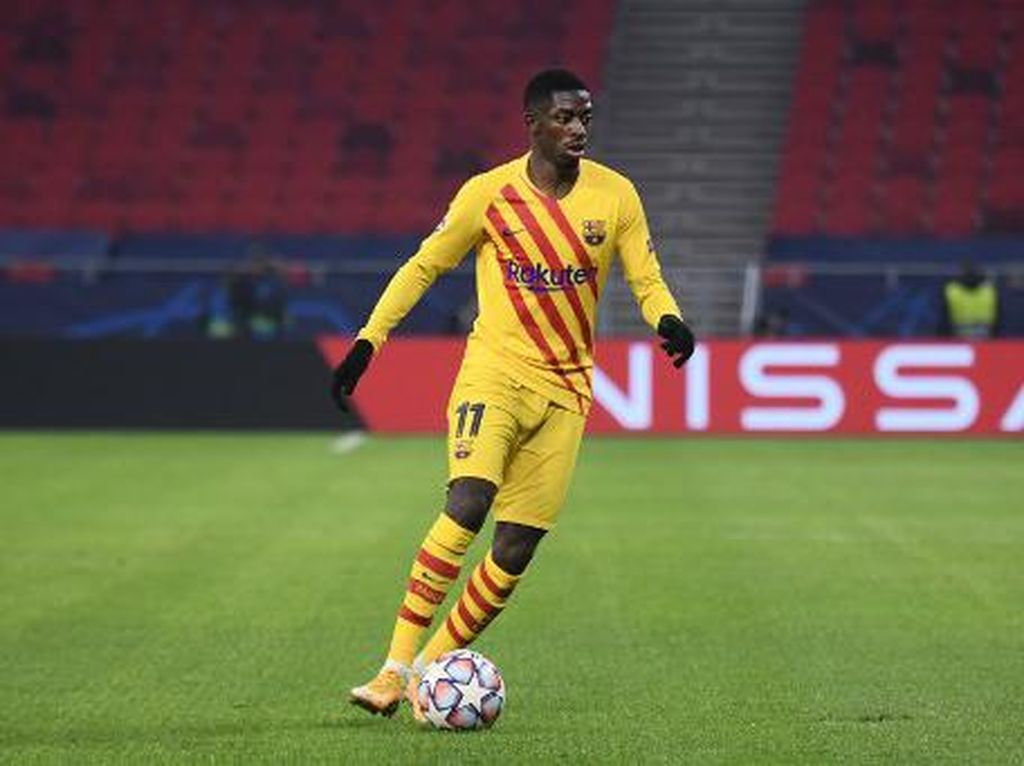 Ousmane Dembele Cedera Lagi, Absen di Laga Barcelona vs Juventus