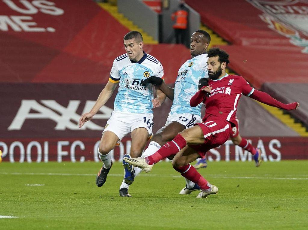 Liverpool vs Wolverhampton Wanderers: The Reds Unggul 1-0 di Babak Pertama