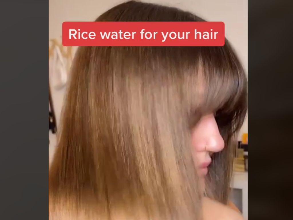 Trik Viral Pakai Air Beras, Bisa Bikin Rambut Seperti dari Salon