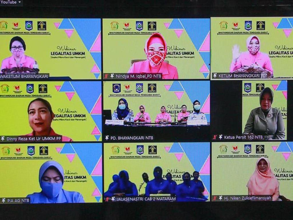 Bhayangkari NTB Gelar Webinar Bahas Legalitas UMKM