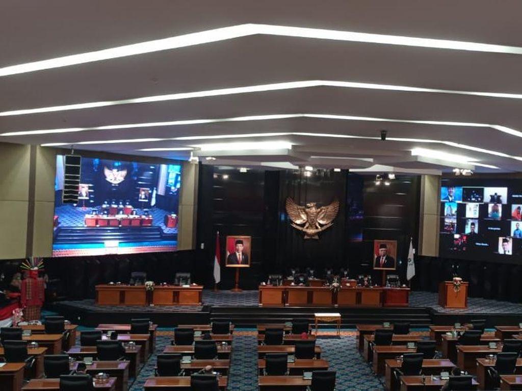 Wagub Riza Patria Hadir Virtual, Paripurna APBD-P DKI 2021 dengan DPRD Dimulai