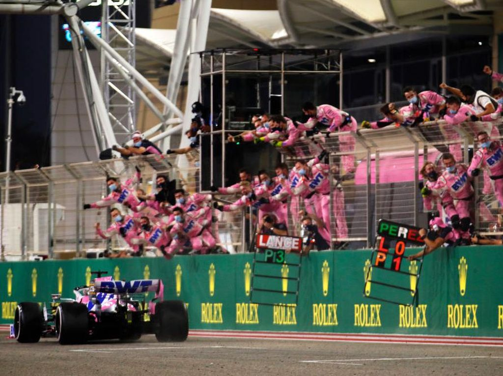 Hasil F1 GP Sakhir: Racing Point Dominan, Sergio Perez Jadi Pemenang