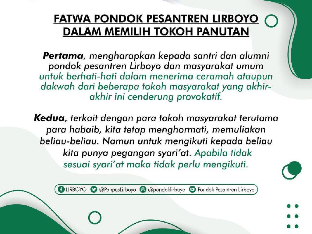 PWNU Jatim Dukung Fatwa Ponpes Lirboyo Soal Pilih Tokoh Panutan