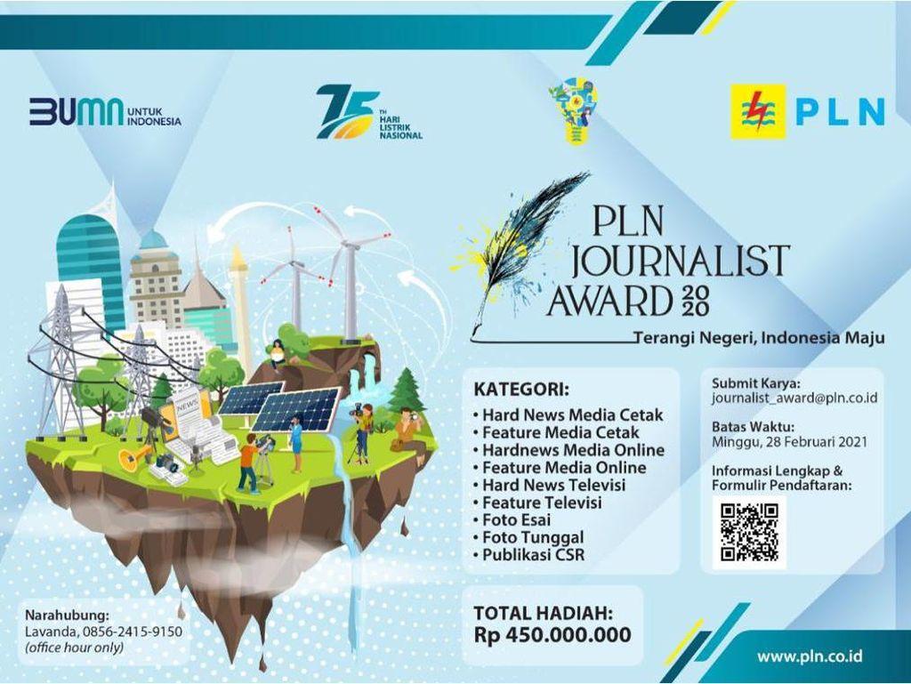 Apresiasi Insan Pers, PLN Gelar Lomba Journalist Award 2020