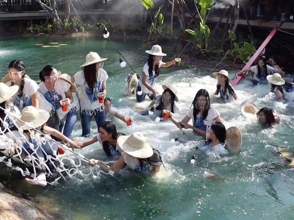 Ambrol! 30 Kontestan Miss Thailand Jatuh dari Jembatan Gantung