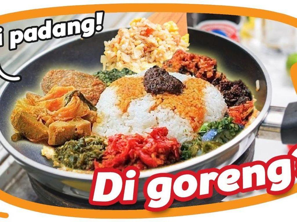 Nasi Padang Diolah Jadi Nasi Goreng, Enak Nggak Ya?