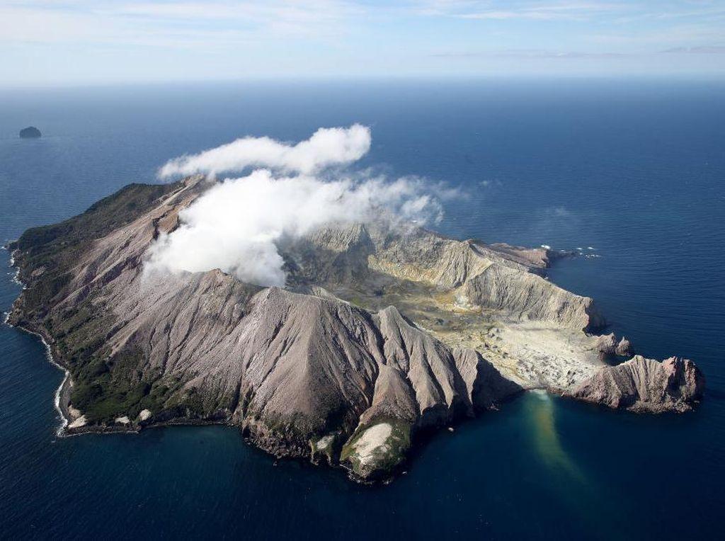 Potret Gunung Berapi Whakaari di Selandia Baru Pasca 1 Tahun Meletus