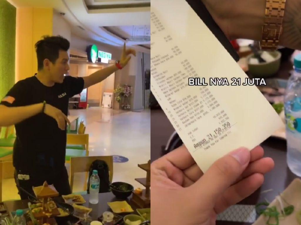 Tajir! Kumpulan Anak Muda Ini Rebutan Traktir Makan Rp 21 Juta di Restoran