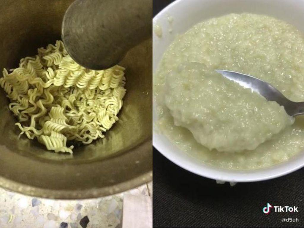Teh Pakai Nasi hingga Bubur Mie, Ini Kreasi Sarapan Aneh