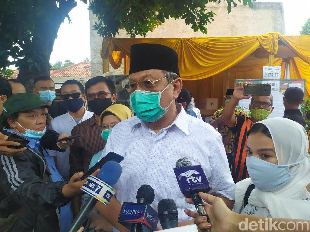 Nyoblos di TPS 16, Benyamin Davnie Targetkan 40% Suara di Pilkada Tangsel