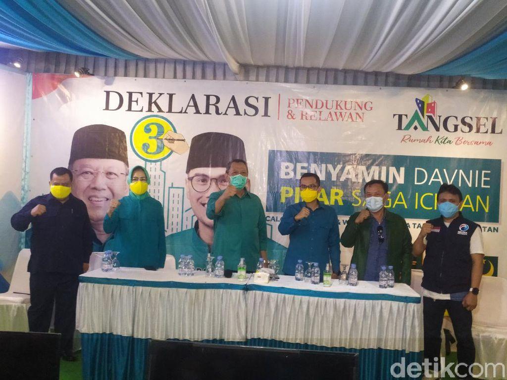Benyamin-Pilar Deklarasikan Kemenangan Pilkada Tangsel 2020 Versi Quick Count