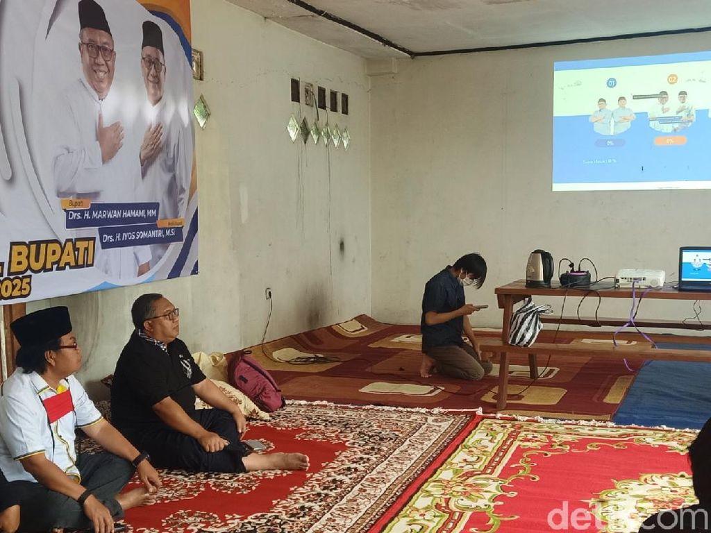 Pilkada Sukabumi, Cabup Marwan Pantau Pergerakan Suara dari Rumahnya