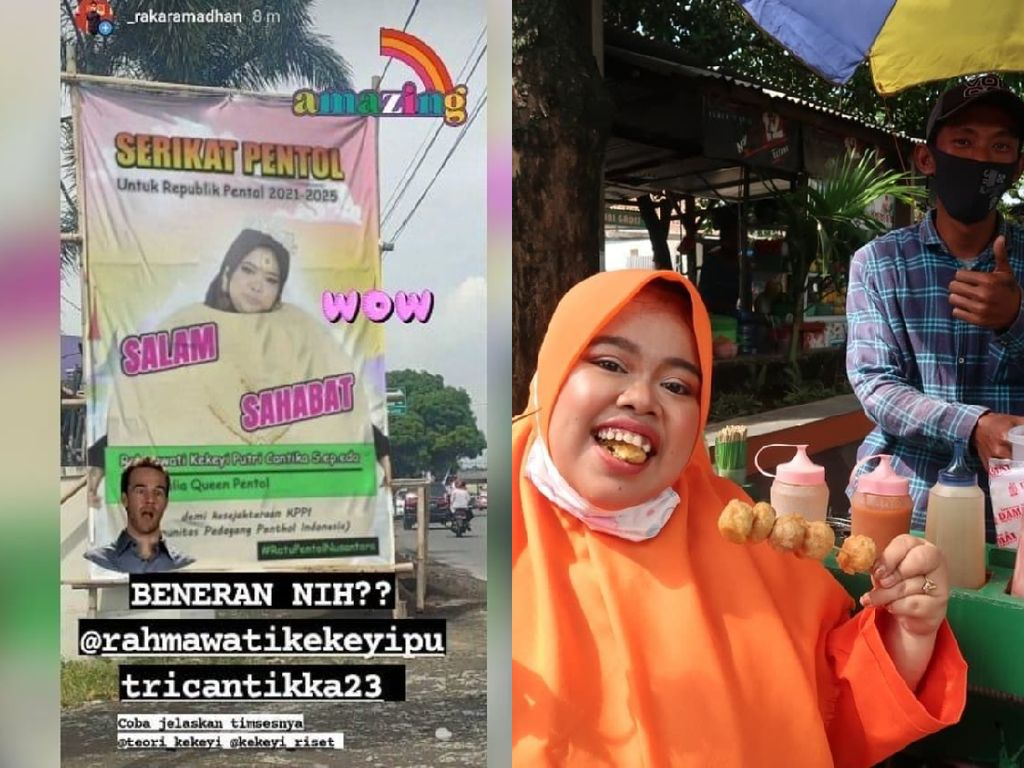 Wow! Kekeyi Pasang Baliho untuk Dukung Pedagang Pentol