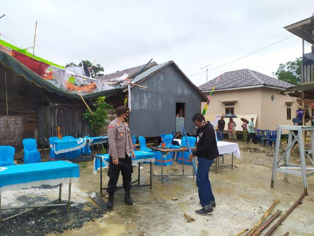 Diterjang Angin Kencang, TPS di Banjarbaru Kalsel Porak-poranda