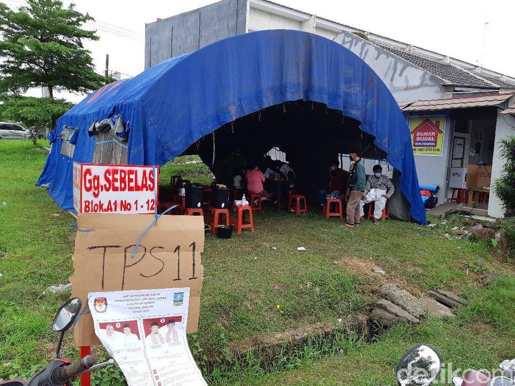 TPS di Lokasi Banjir Serang Banten Sepi Pemilih