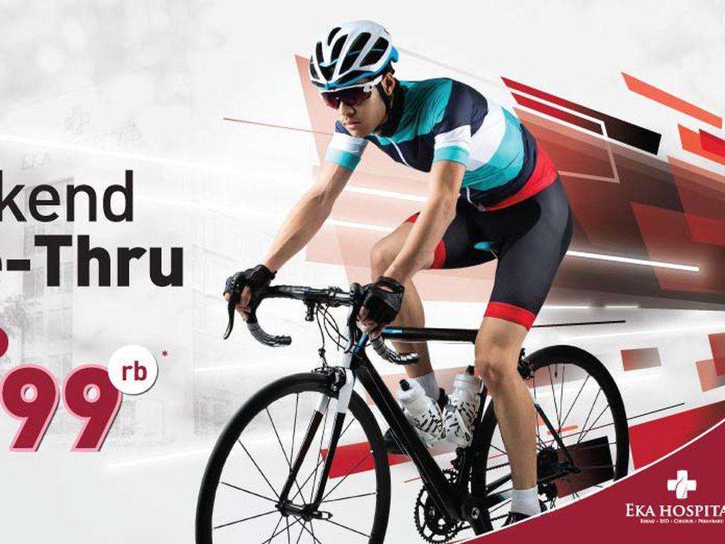 Eka Hospital Gelar Weekend Bike Thru, Pesepeda Bisa Rapid Test