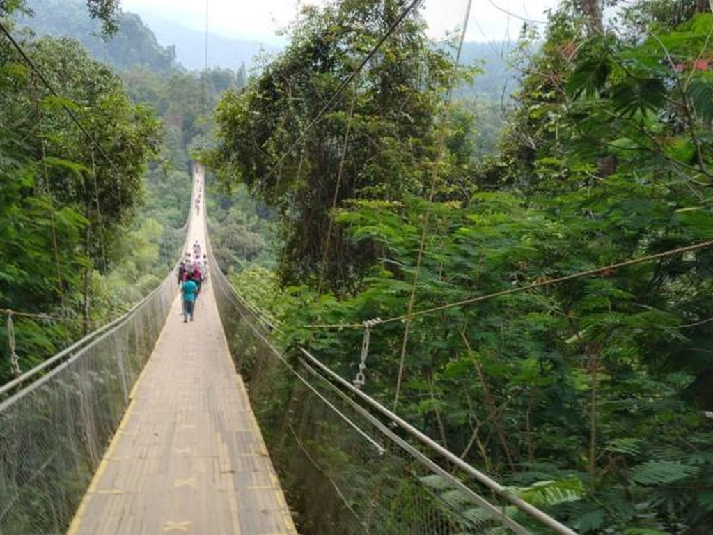 Jembatan Gantung Terpanjang di ASEAN Ada di Sukabumi, Lho!