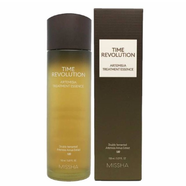 Missha Time Revolution Artemisia Treatment Essence menjadikan kulit lebih plumpy dan lembap/shoope.co.id