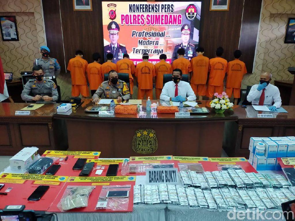 Dalam Dua Bulan, Polisi Ringkus 10 Orang Pengedar Narkoba di Sumedang