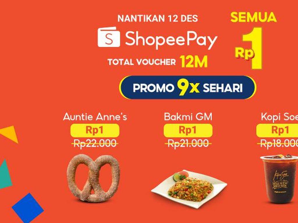 Puncak 12.12, ShopeePay Tawarkan 9 Kali Promo dalam Sehari
