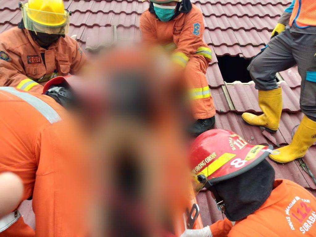 Warga Surabaya Tewas Tersetrum di Genting