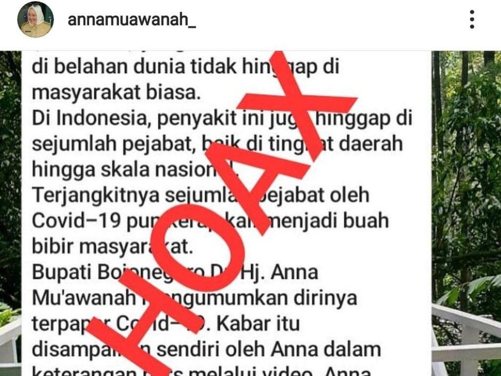 Bupati Anna Dikabarkan Positif COVID-19, Jubir Satgas Bojonegoro: Itu Hoaks