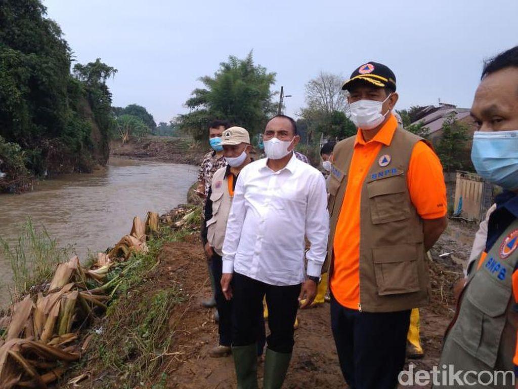 Bareng Gubsu, Doni Monardo Cek Lokasi Banjir-Posko Pengungsi di Medan