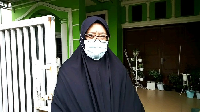 Istri korban hilang banjir Medan, Evawaty (Datuk Haris-detikcom)