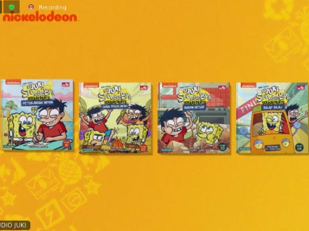 Keren! SpongeBob Makan Gado-gado dan Ketoprak di Komik Si Juki