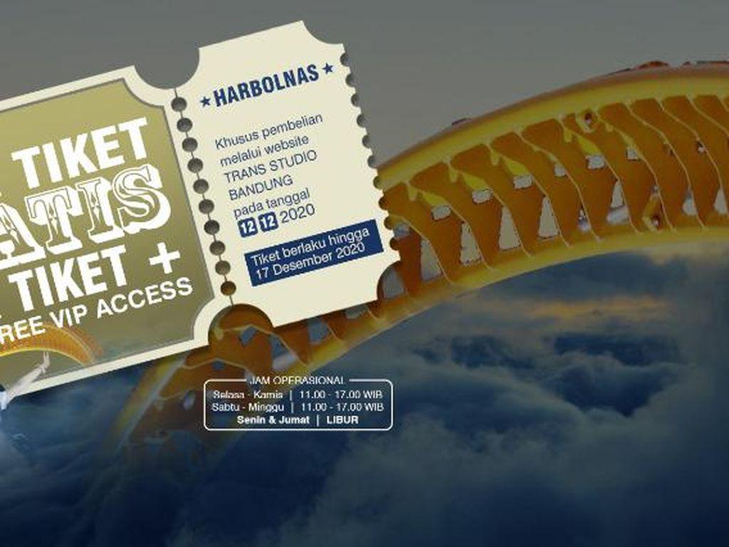 Harbolnas 12.12, Ada Promo Buy 2 Get 2 di Trans Studio Bandung