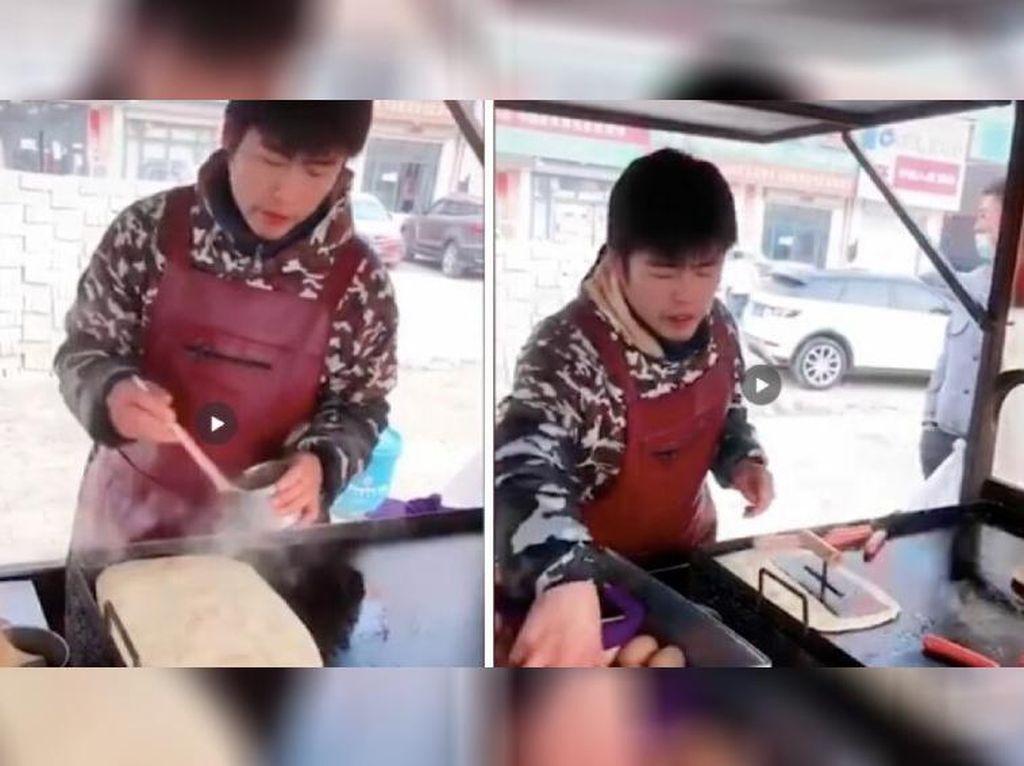 Wajahnya Mirip Jay Chou, Penjual Martabak Telur Ini Tak Mau Terkenal