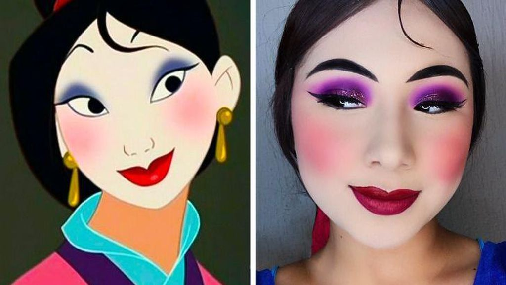 Foto Keren Meniru Makeup Karakter Putri Disney