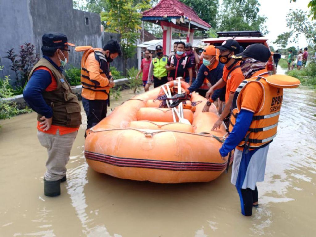 Kali Lamong Meluap, 23 Desa di 2 Kecamatan Gresik Kebanjiran