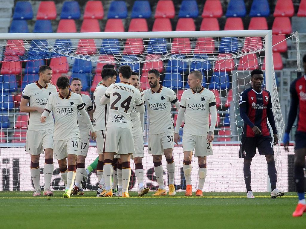Bologna Vs Roma: Giallorossi Pesta Gol 5-1