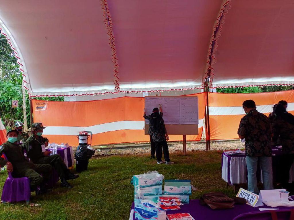 Sanusi-Didik Unggul di Coblosan Ulang TPS 3 Desa Purwodadi Malang