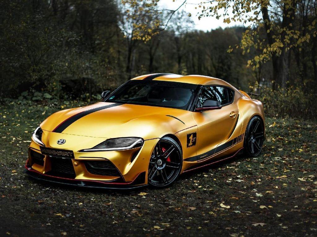 Modifikasi Toyota Supra Ala Manhart: Warna Gold, Tenaga Jadi 542 dk