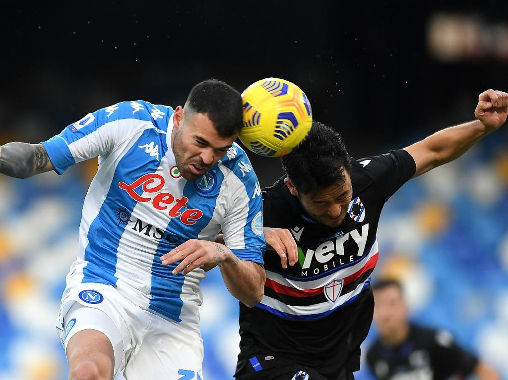 Napoli vs Sampdoria: Menang 2-1, Partenopei Tembus Tiga Besar
