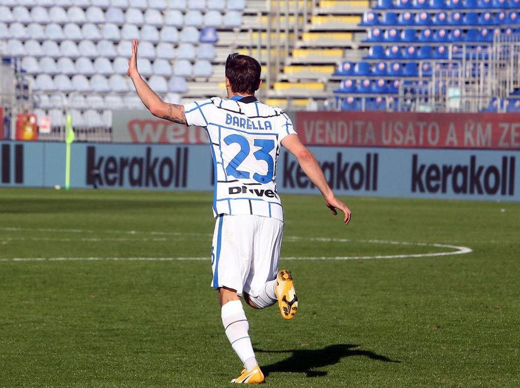 Cagliari Vs Inter: Nerazzurri Menang, tapi Barella Sedih