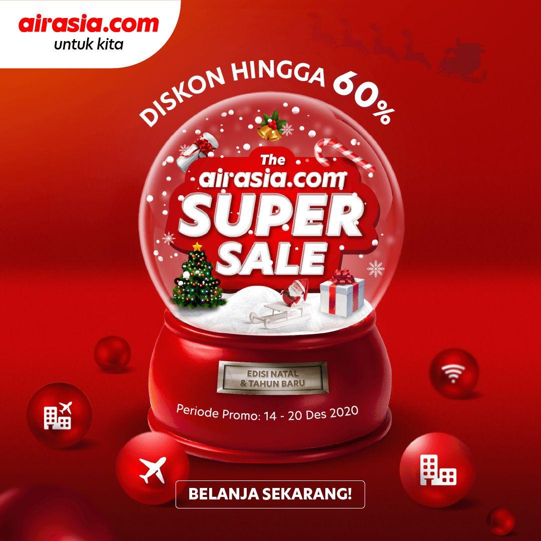 Promo AirAsia untuk libur Natal dan Tahun Baru.