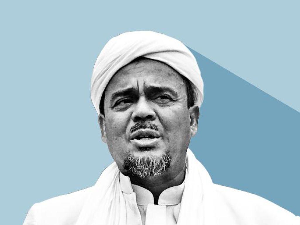 Hattrick Tersangka Habib Rizieq dalam 32 Hari