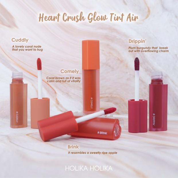 Heart Crush Glow Tint Air NEW SHADES/Dok. Holika Holika