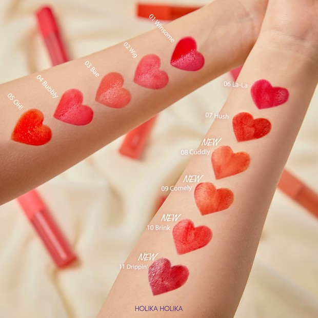 Heart Crush Glow Tint Air_All Shades/Dok. Holika Holika