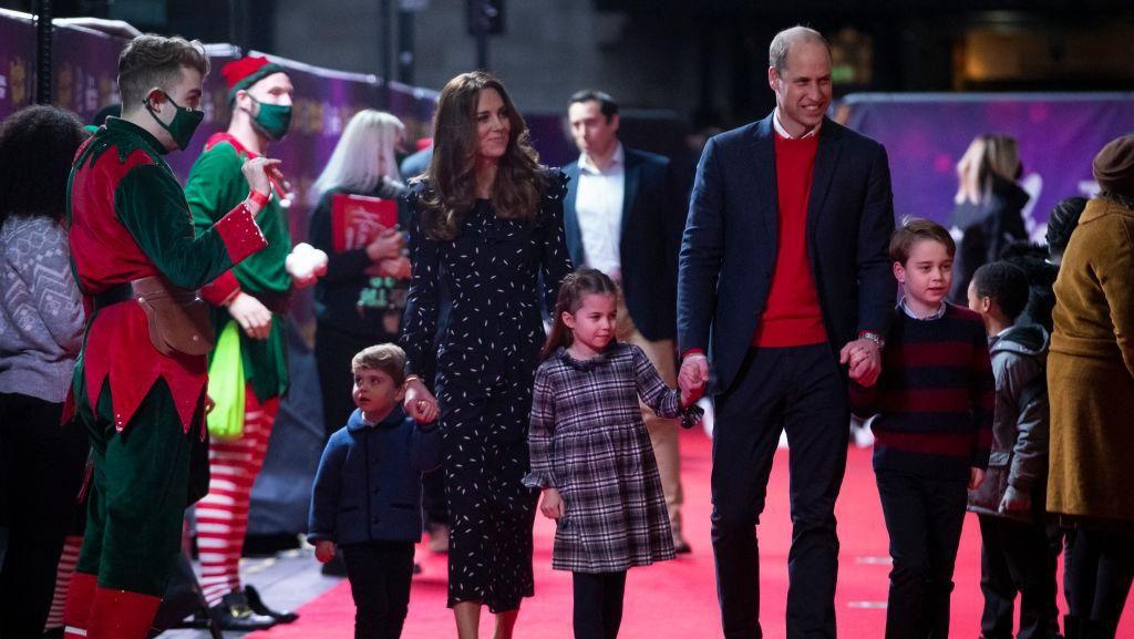 Potret Harmonis Keluarga Pangeran William, Debut Tampil Berlima di Red Carpet