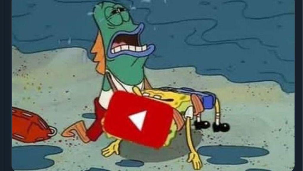 YouTube dkk Tumbang Ramai Jadi Bahan Meme Netizen